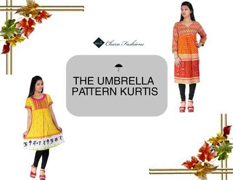 Umbrella Pattern Kurtis | umbrella style wholesale women kurtis charu fashions