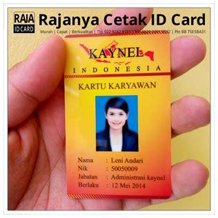 Kartu Id Card cetak id card karyawan cetak kartu plastik pvc id card