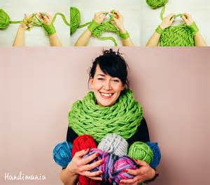 Arm Knitting Infinity Scarf Video » Home Design 2017