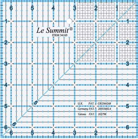 quilters rulers and templates siesta frames limited quilting ruler square with grid 6 5