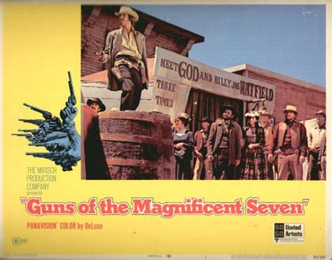 film western zapata guns of the magnificent seven lobby card westerns