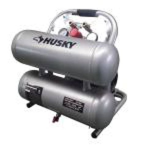 husky 4610a silent flow air compressor used ebay