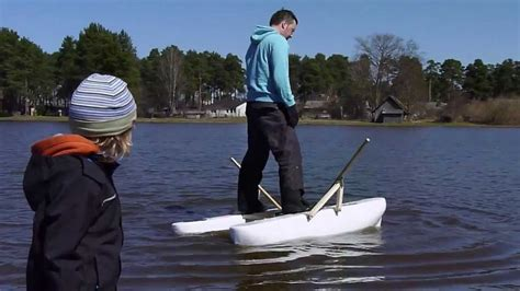 small boat pontoons mini pontoon boat float test youtube
