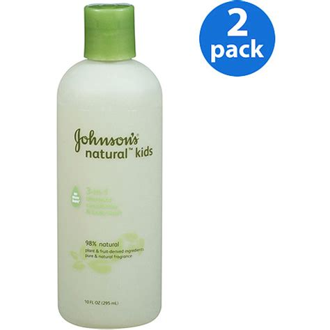 Johnson Wash Naturally White johnson s 3 in 1 shoo conditioner wash 10 fl oz 2 pack diapering