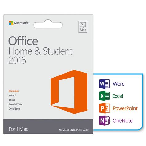 microsoft home office microsoft office home student 2016 1 pc card computer