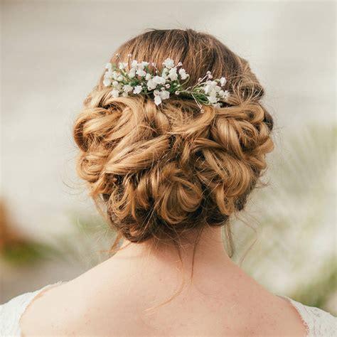 wedding hair with gypsophila gypsophila hair comb by vintage
