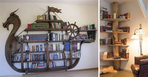 creative book shelves home design