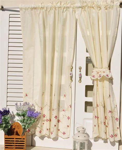 country cafe curtains french country floral embroidered cafe kitchen curtain 006