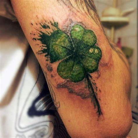 good luck tattoos designs 60 four leaf clover designs for luck ink
