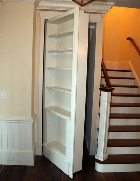 Secret Closet Doors by Spaces Traditional Staircase Boston By Toby