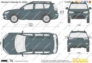 Length Of Mitsubishi Outlander The Blueprints Vector Drawing Mitsubishi Outlander Xl