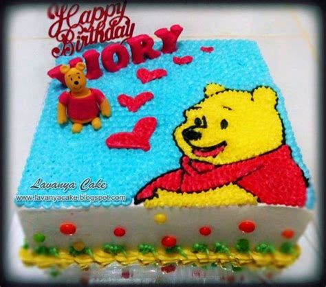 cara membuat kue ulang tahun winnie the pooh lavanya cake specialis rainbow cake batam birthday cake