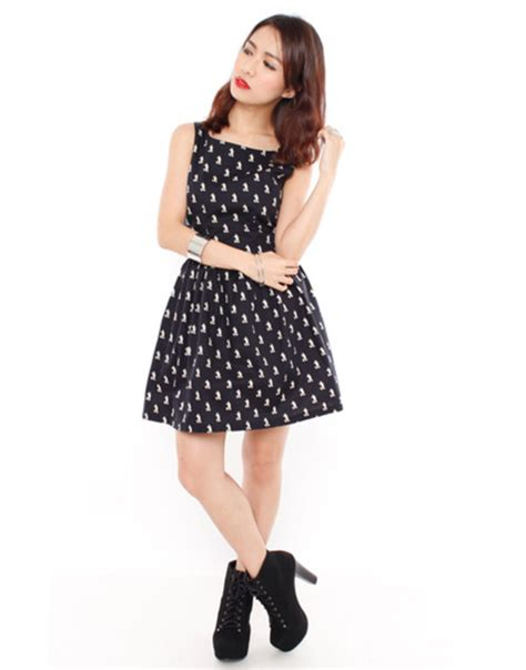 Dress Mickey Black dress mickey mouse black dress printed dress