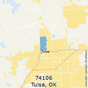 Tulsa Zip Code Map by Best Places To Live In Tulsa Zip 74106 Oklahoma