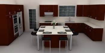 ikea dining area island in kitchen
