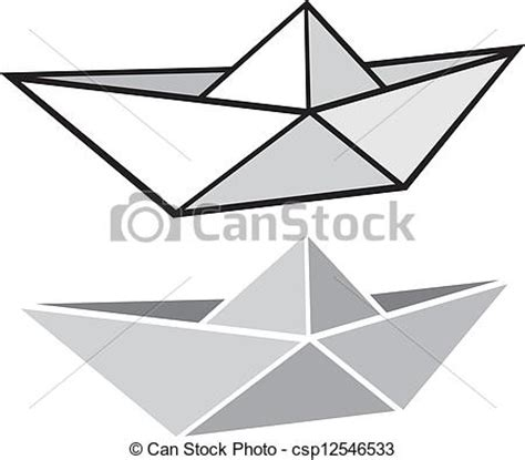 paper boat line drawing vectors of origami paper boat origami paper ship