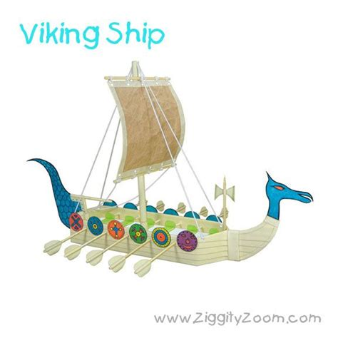 How To Make A Viking Longship Out Of Paper - diy viking ship from recycled items ziggity zoom family