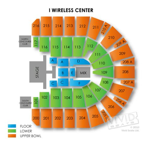 iwireless center seating view iwireless center moline il seating