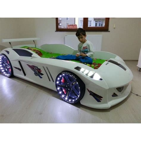 children s race car bed white racecar bed for kids jaguar with led lights kids