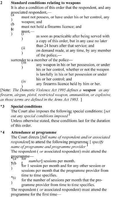section 5 domestic violence act family courts rules 2002 sr 2002 261 as at 03 august