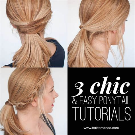 3 easy everyday ponytail hairstyles for medium to long 3 chic ponytail tutorials to lift your everyday hair game