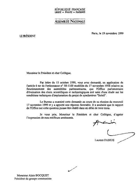 Lettre De Recommandation Journal Du Net Les Conditions D Implantation D Un Nouveau Synchrotron Et