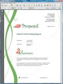funding request sample proposal