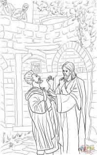 Jesus And The Blind Man Ausmalbild Jesus Heilt Den Taubstummen Ausmalbilder