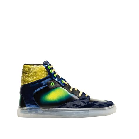 balenciaga sneakers balenciaga iridescent multicolor high sneakers s