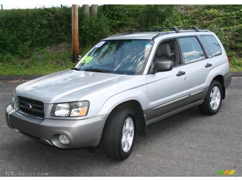 subaru forester silver 2003 subaru forester silver 200 interior and exterior
