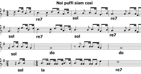 testo i puffi musica e spartiti gratis per flauto dolce i puffi