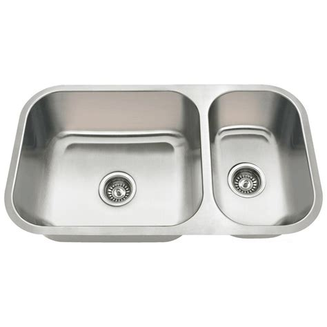 Kitchen Sinks Stainless Steel Undermount Mr Direct Undermount Stainless Steel 32 In Bowl Kitchen Sink 3218b The Home Depot