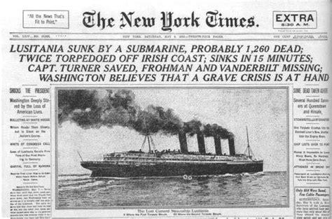 ww1 sinking of the lusitania untitled document mtholyoke edu