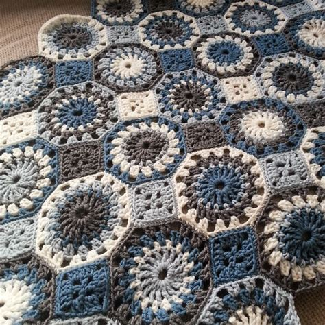 crochet pattern octagon motif circles in octagons with squares knitting crochet