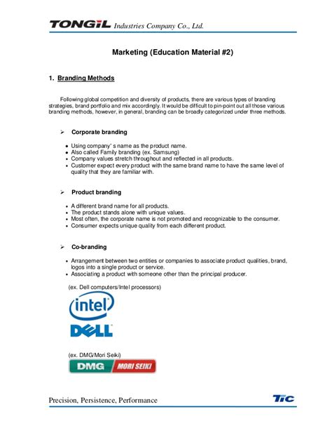 Marketing Education 2 by Tongil Marketing Education Material 2