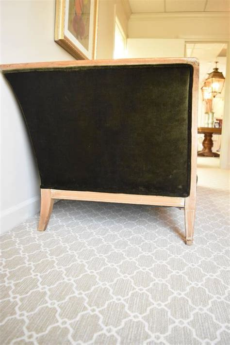 vintage sofa with wood trim vintage directoire style sofa with wood trim at 1stdibs