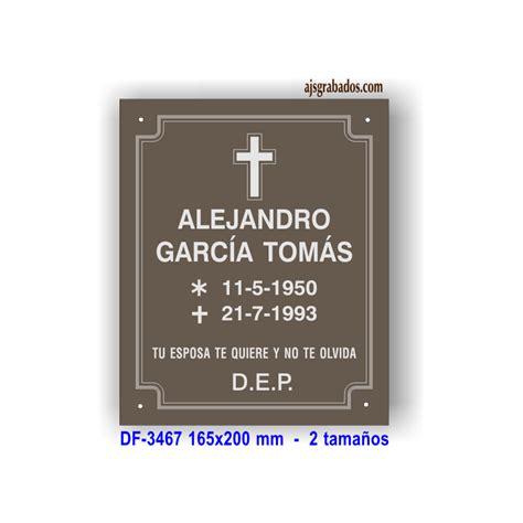 modelos de cruz para difuntos placa difuntos aluminio anodizado bronce grabada diamante