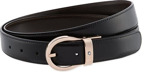 montblanc reversible leather belt in black for lyst