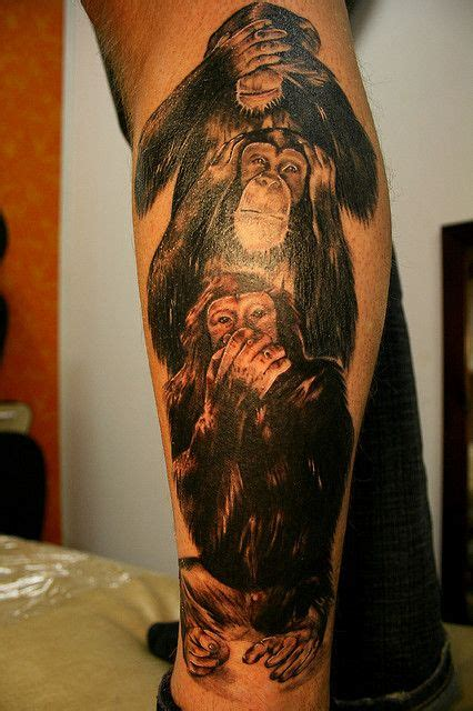 three monkeys tattoo design three wise monkeys tattoos three wise