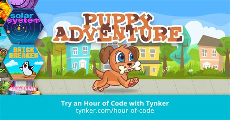 tynker puppy adventure puppy adventure hour of code tynker