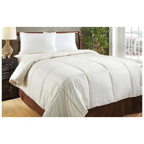 thread count comforter 350 thread count down alternative comforter ivory