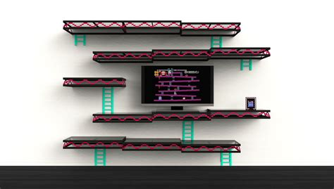 video game home decor retro gaming decor the geeky donkey kong wall shelf