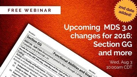 mds 3 0 section c 2nd webinar added learn about mds 3 0 changes section gg