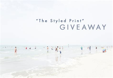 Print Giveaway - 187 the styled print giveaway print by george