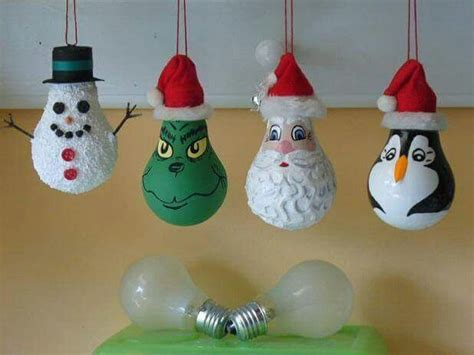 painted lightbulb ornaments recycle all those burnt out