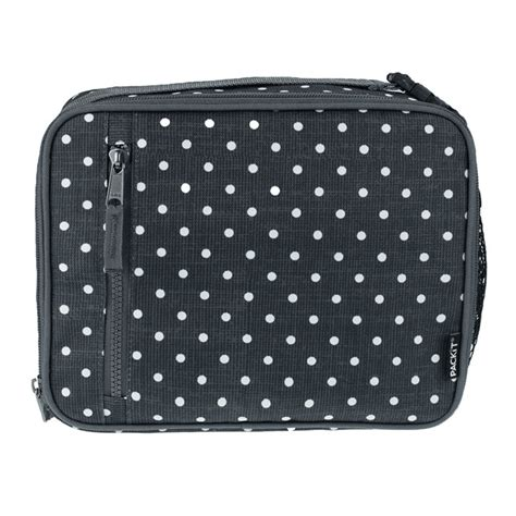 Packit Freezable Carry All Lunch Bag Classic Polka Cooler Bag packit freezable classic lunch box polka dots babymama