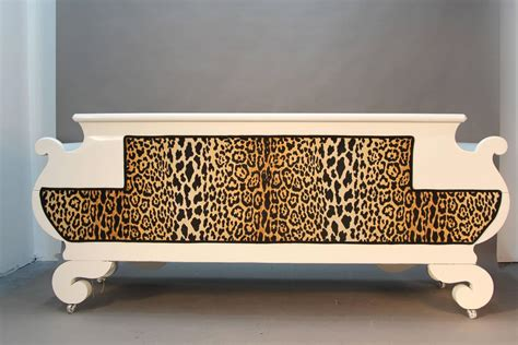 Animal Print Sofa by Newly Laquered And Upholstered Empire Style Sofa In