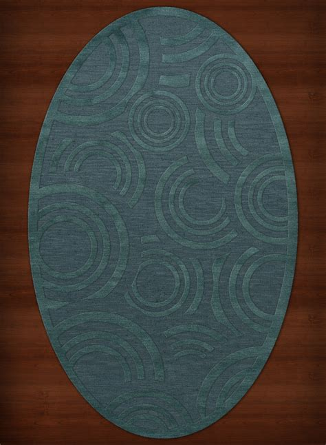 oval rug payless troy tr3 144 teal oval rug