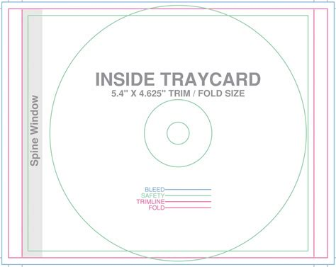 cd tray template design templates