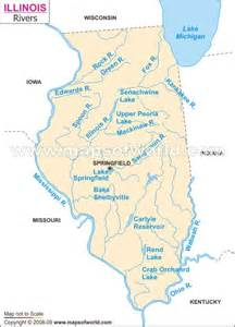 Map Of Illinois Rivers by Illinois State Map